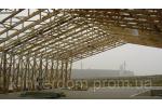 Проектируем и устанавливаем безопорные деревянные стропильные фермы для строительства большепролётных зданий (ангаров, складов, торговых павильонов, спортивных сооружений). Цена, строительство БМЗ в Харькове.